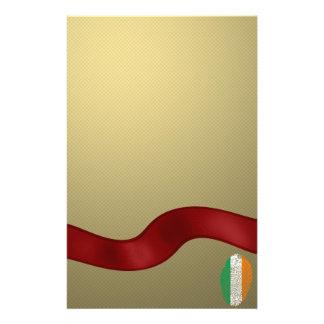 Irish touch fingerprint flag stationery
