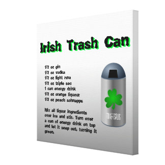 Irish Trash Can Drink Recipe Canvas Print