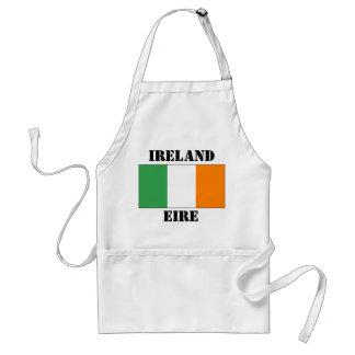 Irish tri-colour flag on an apron