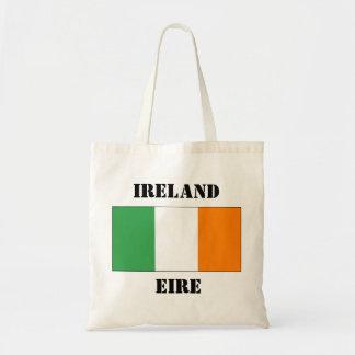 Irish tricolour flag on a bag