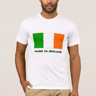 Irish tricolour flag with Made in Ireland text T-Shirt