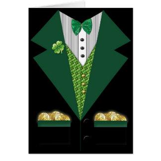 irish tuxedo St Patrick s day card