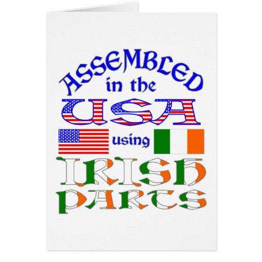 Irish USA Parts Greeting Cards