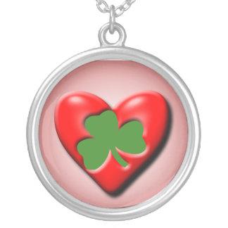 Irish Valentine Round Pendant Necklace