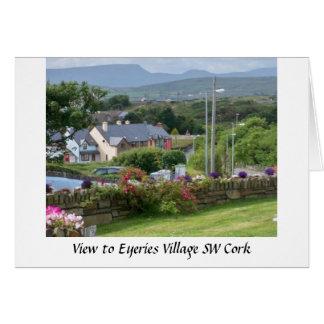 Irish village Eyeries, County Cork Card