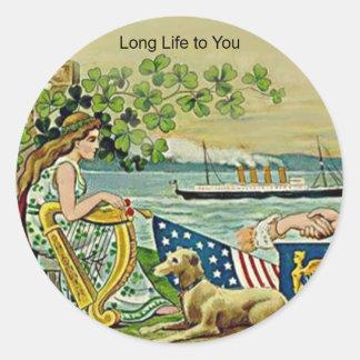 irish vintage love for erin round sticker