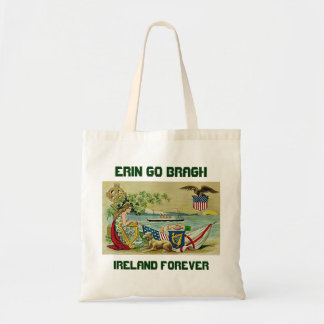 irish vintage love for erin budget tote bag