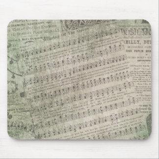 Irish Vintage Sheet Music, Wearing of the Green Mouse Mat