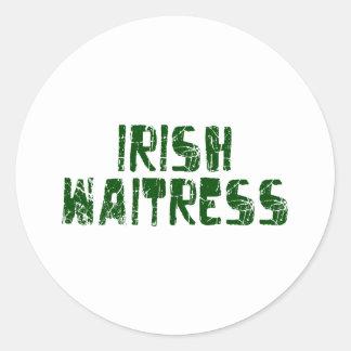 Irish Waitress Stickers