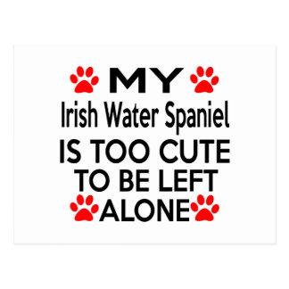 Irish Water Spaniel Designs Postcard