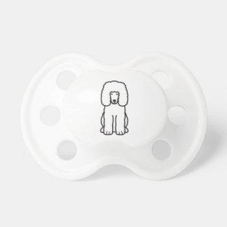Irish Water Spaniel Dog Cartoon Pacifiers