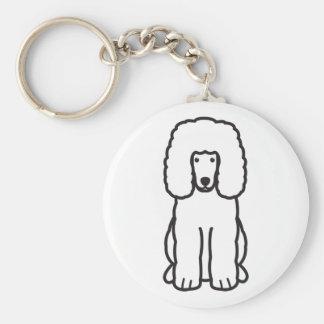 Irish Water Spaniel Dog Cartoon Key Chain