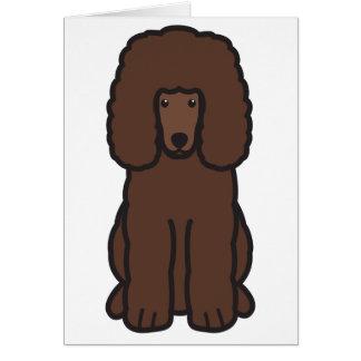 Irish Water Spaniel Dog Cartoon Note Card