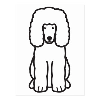 Irish Water Spaniel Dog Cartoon Postcard