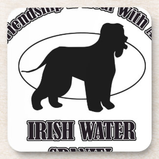IRISH WATER SPANIEL DOG DESIGNS COASTER