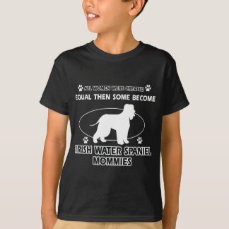 Irish water spaniel dog Designs T-Shirt