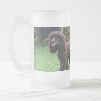 Irish Water Spaniel Glass Beer Mug