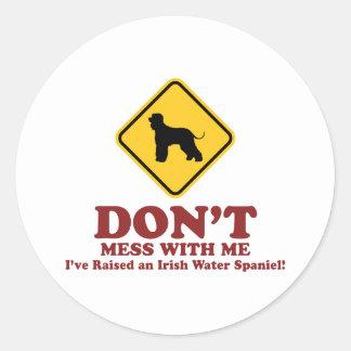 Irish Water Spaniel Round Sticker