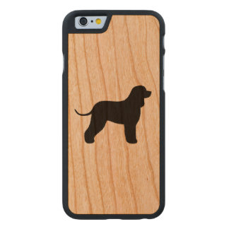 Irish Water Spaniel Silhouette Carved Cherry iPhone 6 Case