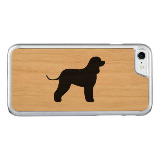Irish Water Spaniel Silhouette Carved iPhone 7 Case