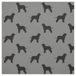 Irish Water Spaniel Silhouettes Pattern Fabric
