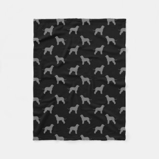 Irish Water Spaniel Silhouettes Pattern Fleece Blanket