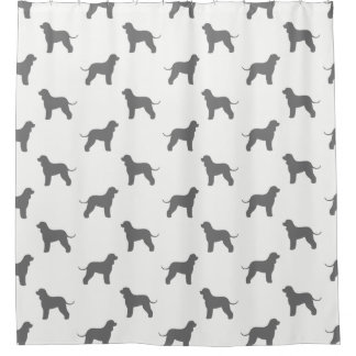 Irish Water Spaniel Silhouettes Pattern Shower Curtain