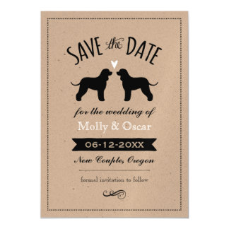 Irish Water Spaniels Wedding Save the Date Magnetic Card