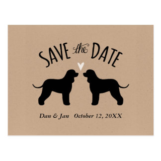 Irish Water Spaniels Wedding Save the Date Postcard