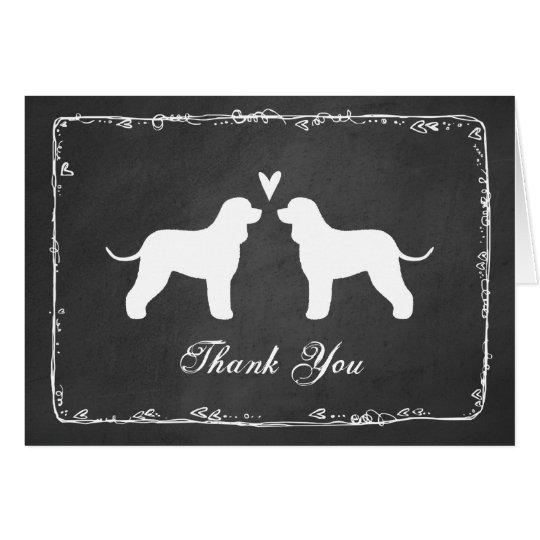 Irish Water Spaniels Wedding Thank You Card