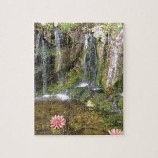 Irish Waterfalls In Blarney Castle Garden Ireland Jigsaw Puzzles