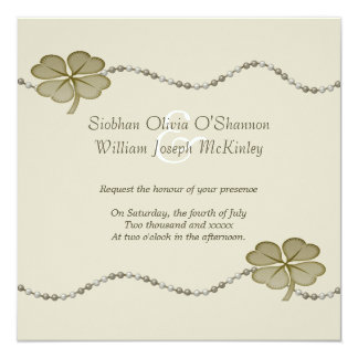 Irish Wedding 13 Cm X 13 Cm Square Invitation Card