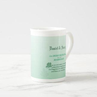 Irish Wedding Congratulations Blessing Tea Cup