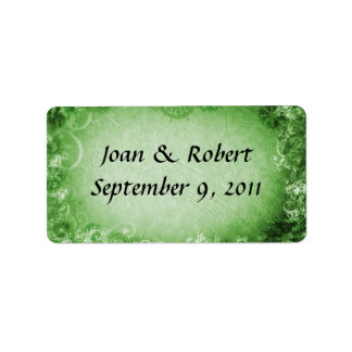 Irish Wedding Favor Labels