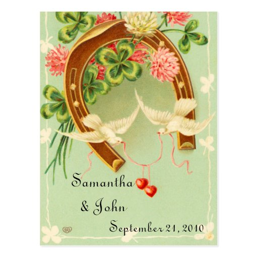 Irish Wedding Save the Date Post Card
