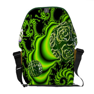 Irish Whirl - Abstract Emerald Dance Commuter Bags