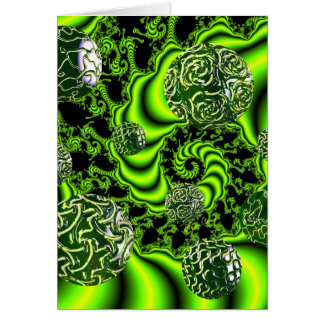 Irish Whirl - Abstract Emerald Dance Lime Greeting Card