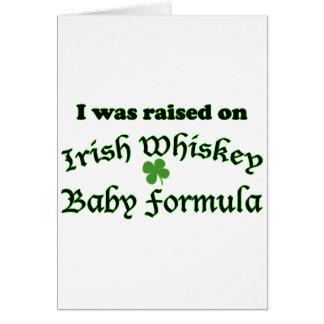 Irish Whiskey Baby Formula Greeting Card