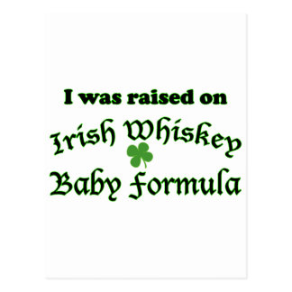Irish Whiskey Baby Formula Postcard