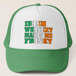 24ee7ed8 Irish whiskey makes me frisky trucker hat