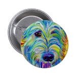 Irish Wolfhound #1 6 Cm Round Badge