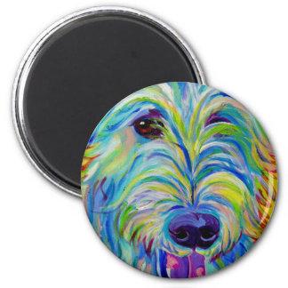 Irish Wolfhound #1 6 Cm Round Magnet