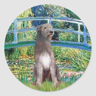 Irish Wolfhound 1 - Bridge Round Sticker