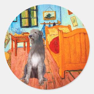 Irish Wolfhound 1 - Room at Arles Round Sticker