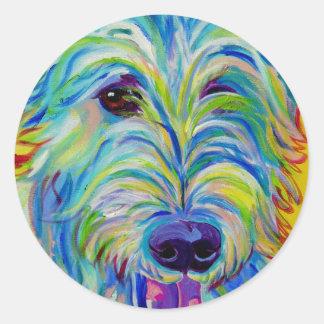 Irish Wolfhound #1 Round Sticker