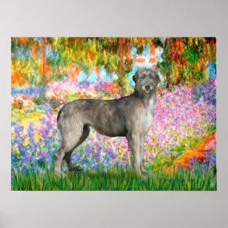 Irish Wolfhound 3 - Garden Poster