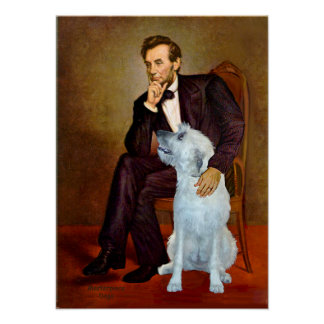 Irish Wolfhound 4 - Lincoln Poster