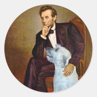 Irish Wolfhound 4 - Lincoln Round Stickers
