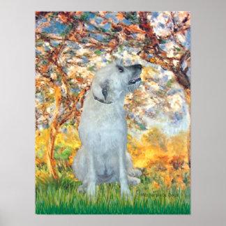 Irish Wolfhound 4 - Spring Print