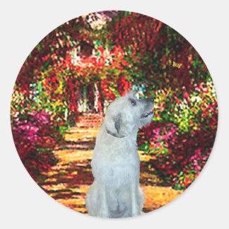 Irish Wolfhound 4 - The Path Round Sticker
